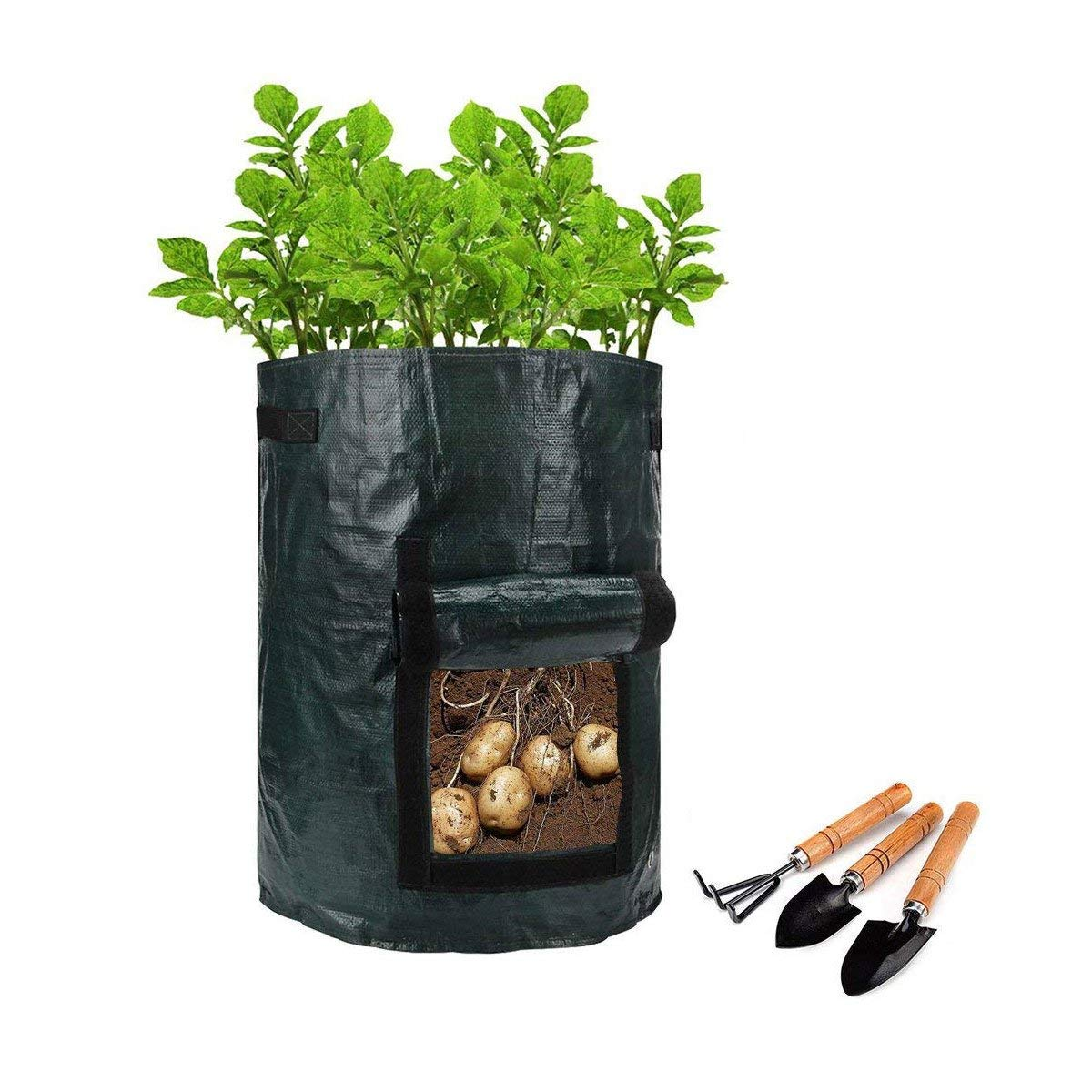 Garden Potato Grow Bag , 4-Pack 7 Gallon Vegetables Plant Grow Bags,Planting for Potato, Carrot, Vegetables Flower Plant