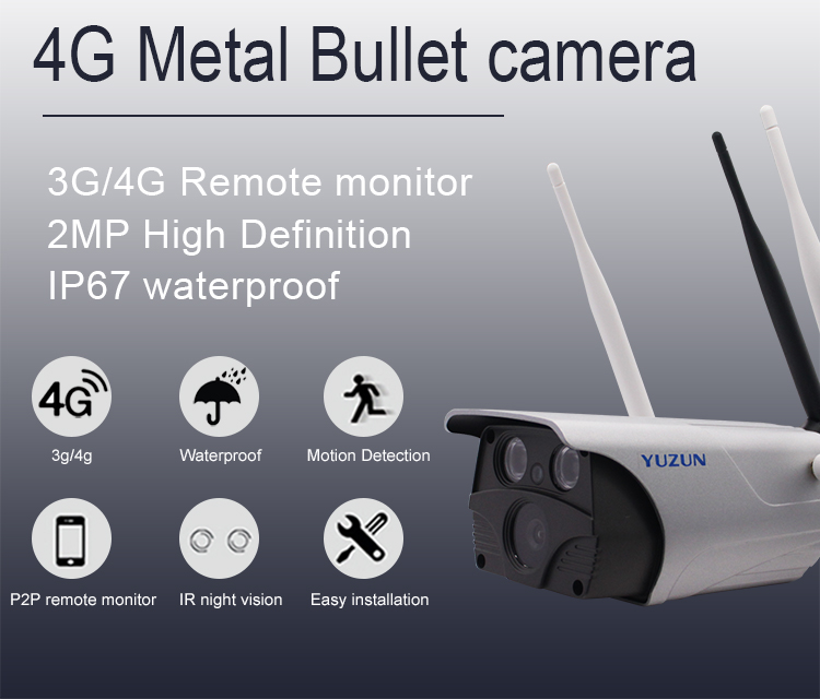 3g 4g sim card ip security camera IP67 waterproof outdoor bullet wireless cctv camera IP67 waterproof