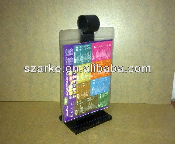 Acrylic Flip Menu Stand, Restaurant Table Display