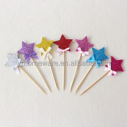Decoration Birthday Cake Insert card Baby Shower Party Star shape Cake Topper birthday item