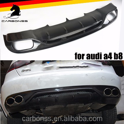 CF REAR BODY KIT LIP SPOILER DIFFUSER FOR AUDI A4 B8 2008-2011