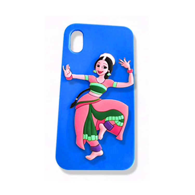 Hot sell dancing girl embossed custom silicone phone case for iphone 6/7/X