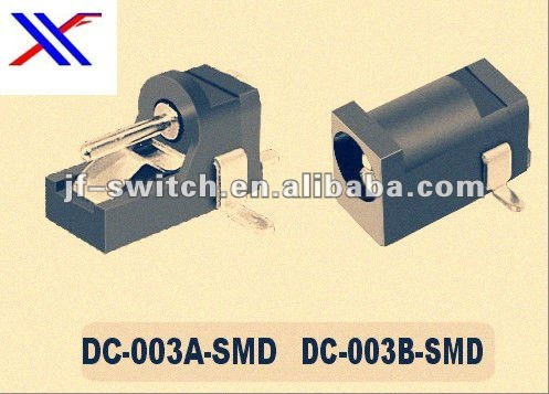 black DC power Jack(SMD Power Jack/Laptop Power Jack)connector 003A -smd,dc-003b-smd