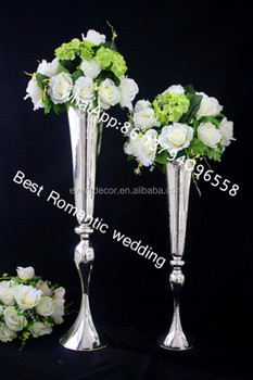 Elegant Vase Wedding Centerpieces Tall Metal Vases