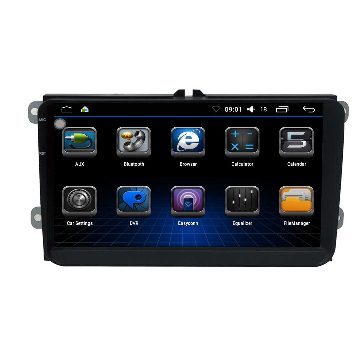 9inch Touch Screen Universal Android Car DVD Player for VW MAGOTAN with GPS Navigation Phone Link Wifi