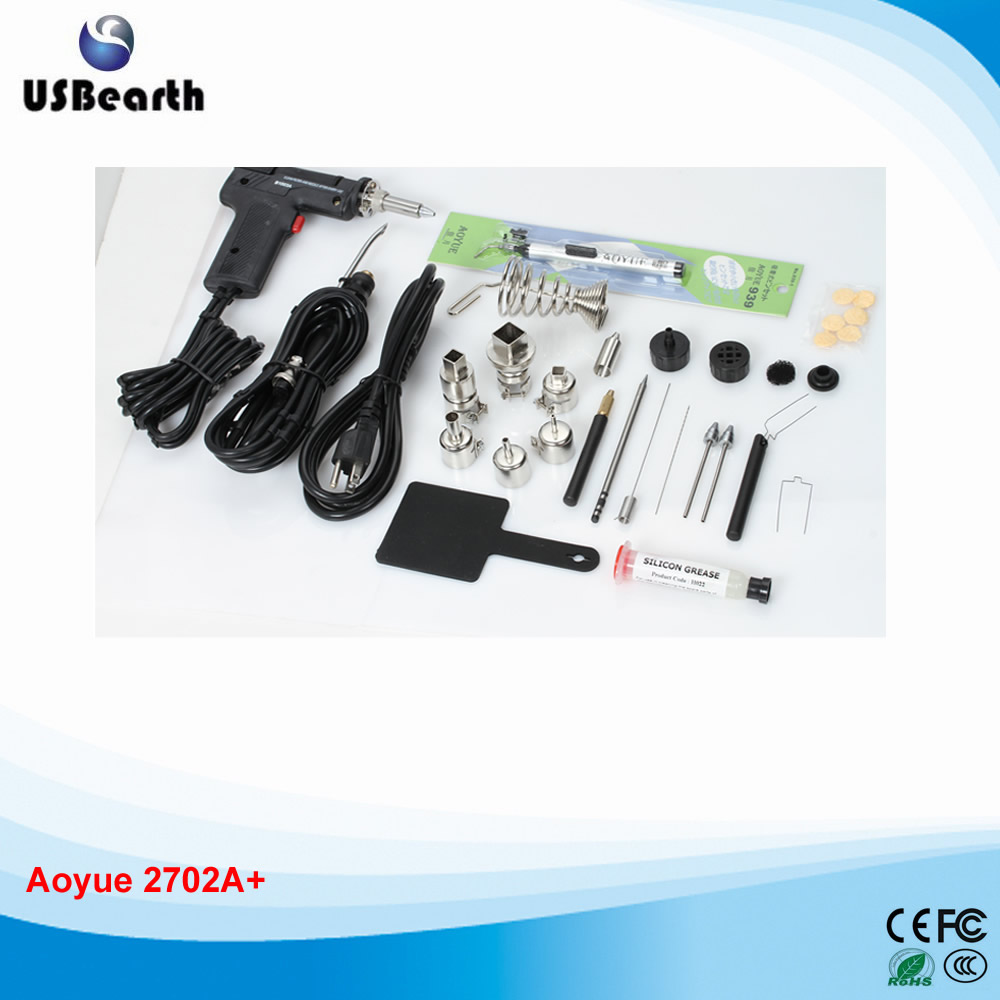 HOTTEST Lead Free Repairing system, Desoldering station Aoyue 2702A+ ,Hot Air gun,220 V