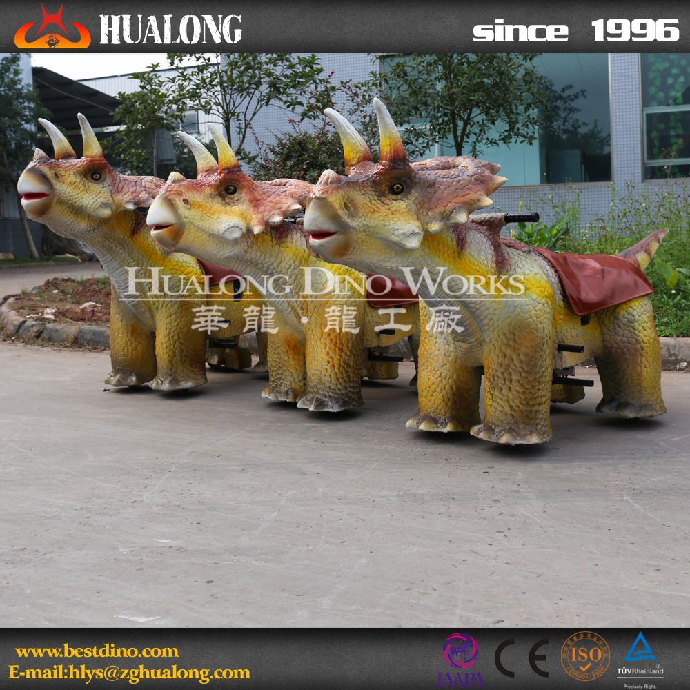 Amusement Park Vivid Cars of Dinosaurs for Kids