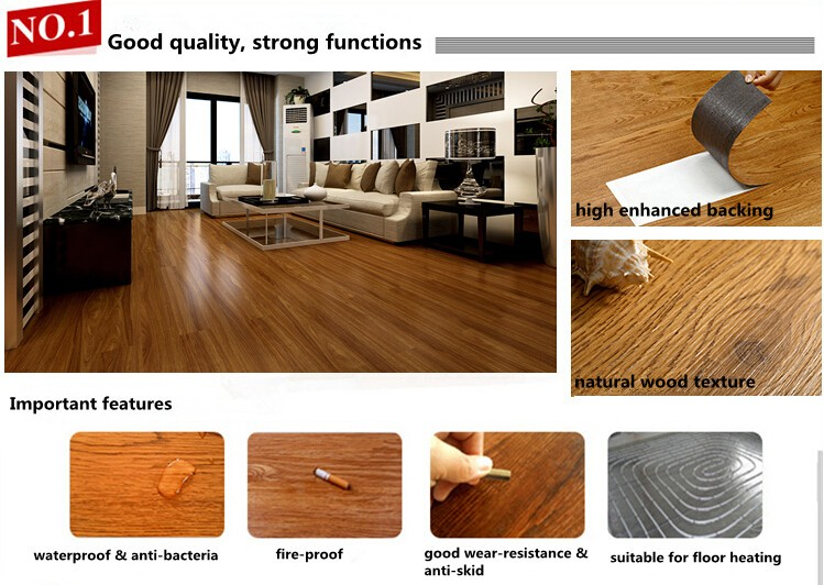 March promotion wear-resistance glue down vinyl plank pvc flooring