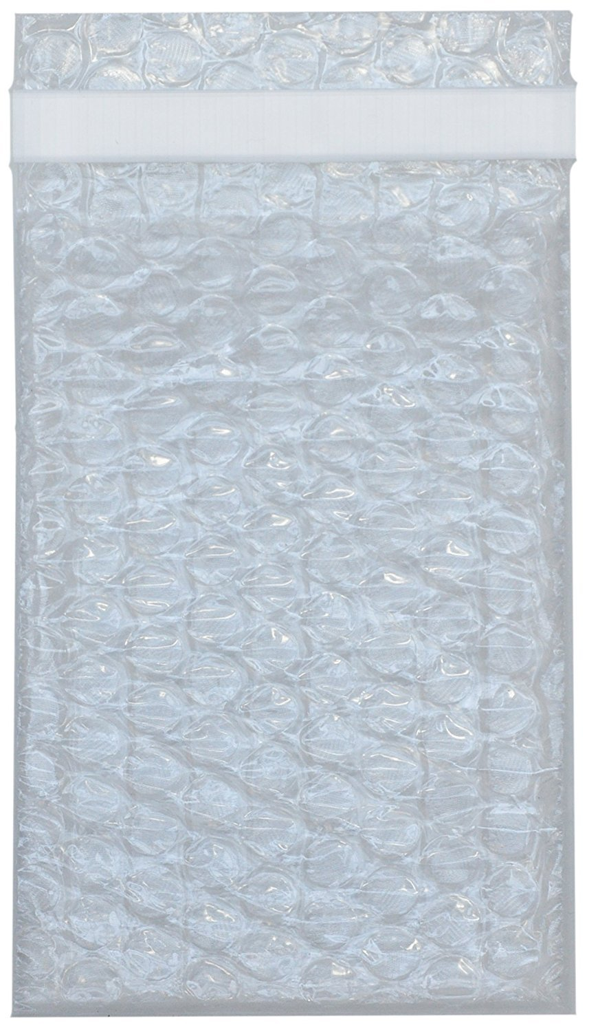 """Premier Bubble Double Walled Self-Sealing Clear Cushioning Pouch Bags - Protective Bags for Shipping, Storage, and Moving (4"""" x 6"""" - 25 count)"""