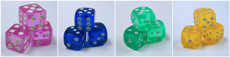 Customize 6 Sided Silk-screen Printing Colored Dice Game For ...