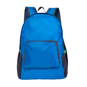 2018 waterproof polyester nylon foldable backpack, custom promotion foldable travel bag