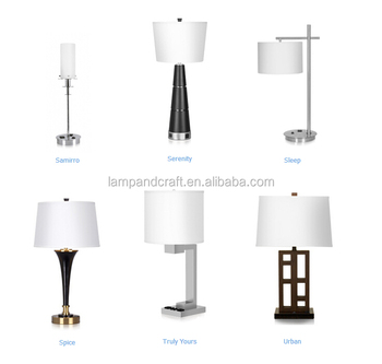 Usa Modern Hotel Table Lamp With Usb Port And Power Outlet In The