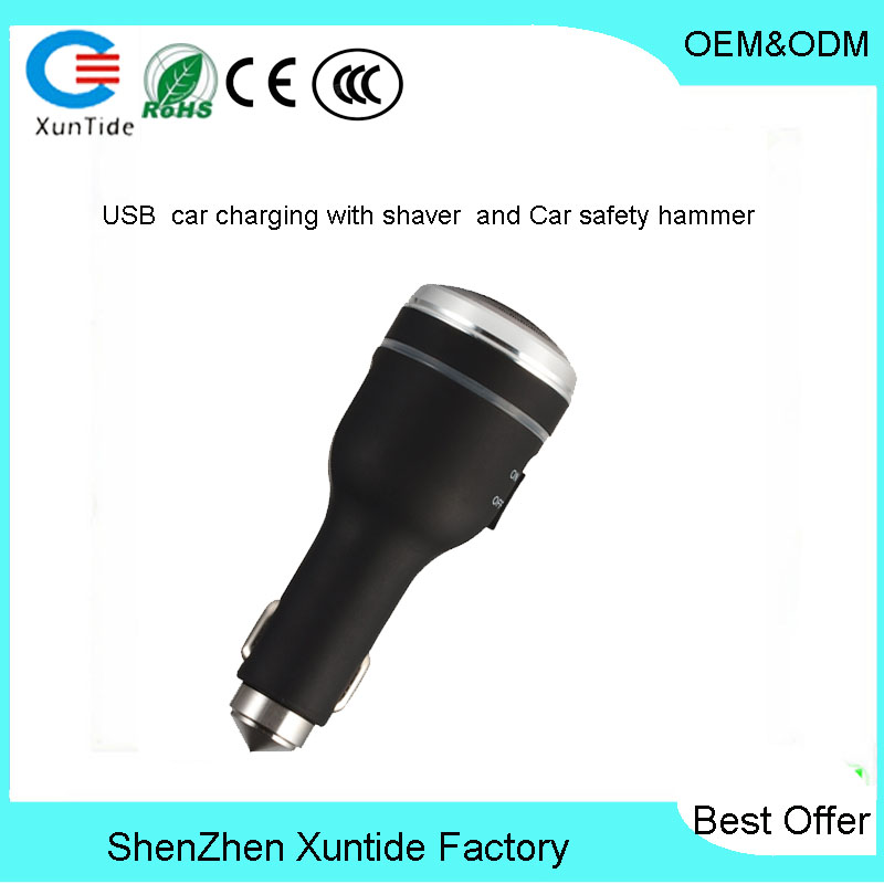 Smart car charging shaver multifunctional car charger car explosion of creative new electricity supplies