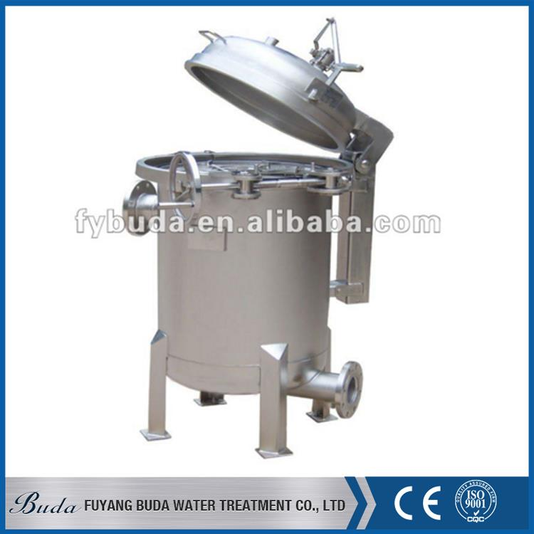 High quality hot selling 20 water filter housing, transparent ss bag filter housing, ow pressure bag filter housing