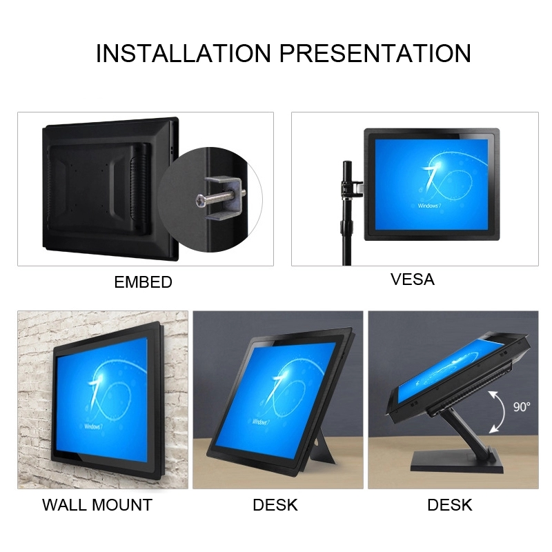 8 inch industrial touch monitor  club making 400nits touch panel capacitive resistive LCD tablet kiosk