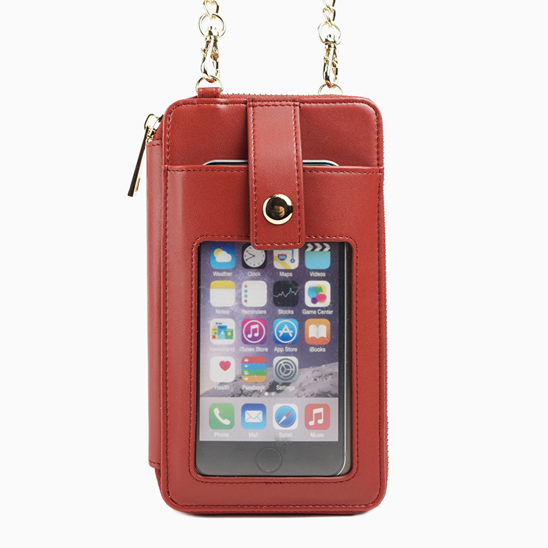 Minandio trendy cross-body bag wallet phone cases with chain, for iPhone 6s
