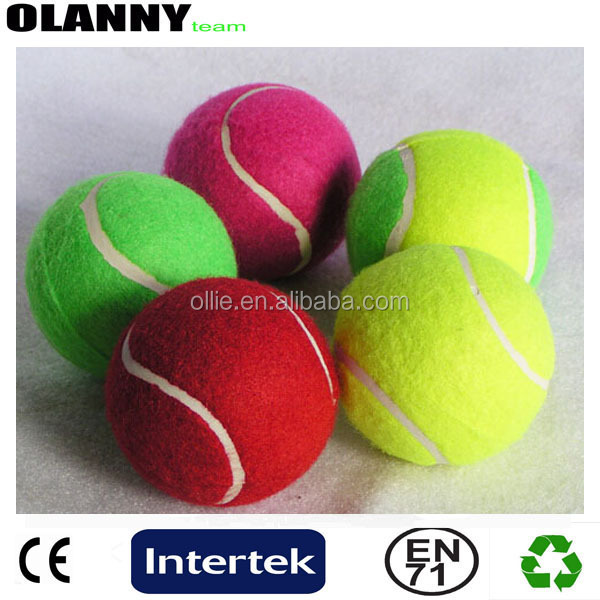 ITF approved customized colorful new mold pet tennis ball