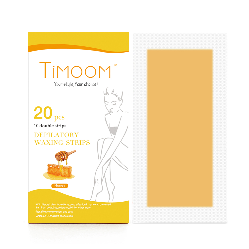 TIMOOM 20 stks Ontharing Ontharingscrème Waxen Strips/Honing Cold Wax Strips