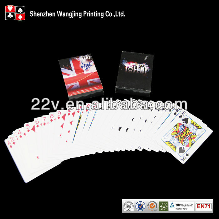 customised playing cards with design logo image