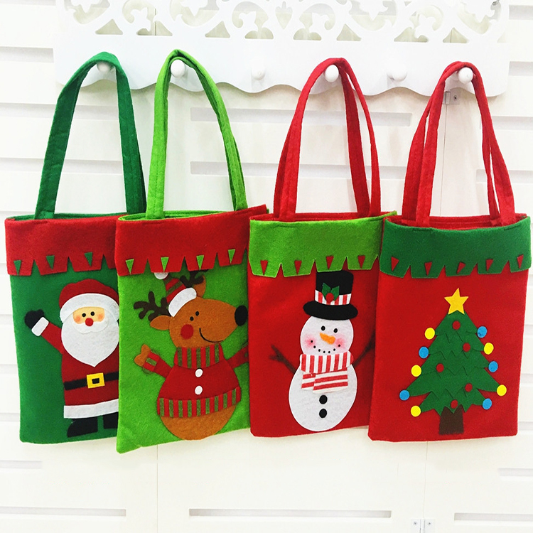 Fashion arts and crafts handmade large fabric christmas gift bag santa sack for Merry Christmas