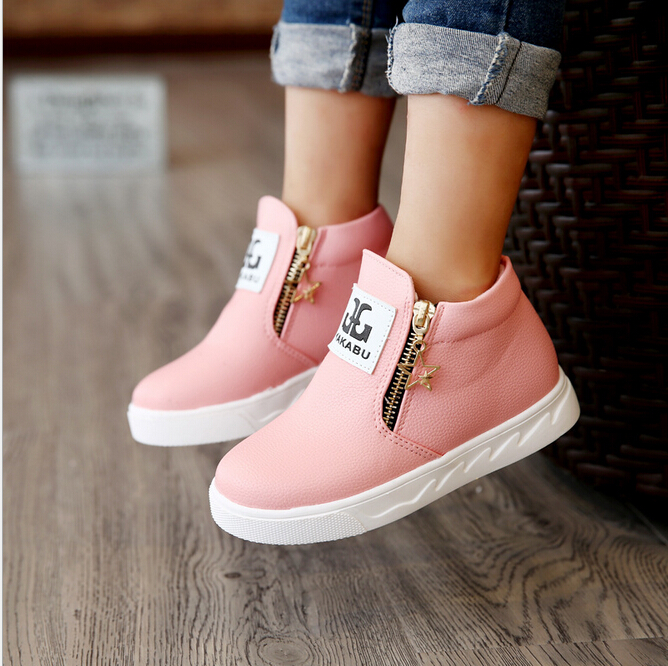 Boy girls casual Martin short boots fashion single sapatos infantil princesse botas kids baby nina boys