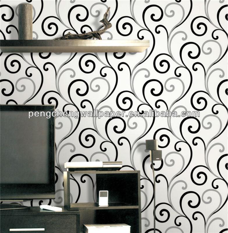 White And Black Color Design Wallpaper /home Decoration Pieces ...