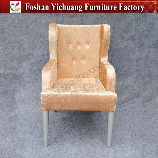 Luxury Five Star Hotel Chair for wholesale smooth velvet hotel chairs YC-F020-01
