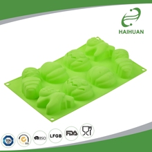 Satisfying Service 100% Food Grade Silicone 8-Cavity Halloween Pumpkin Cake Mould Silicone Molds For Cakes