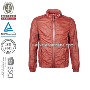 Customized windproof lightweight nylon mens rain sports jacket