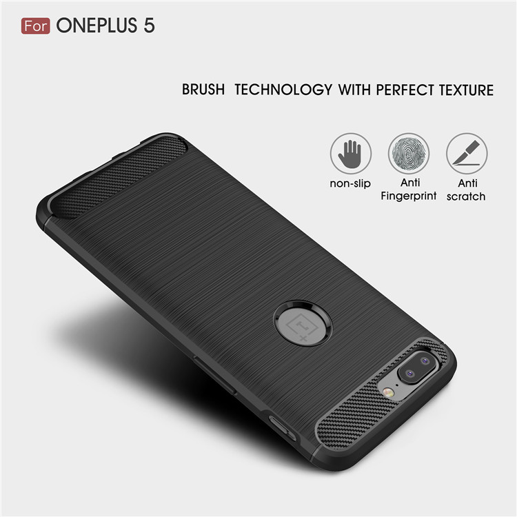 ultra thin tpu brushed phone case for One plus 5 case in stock