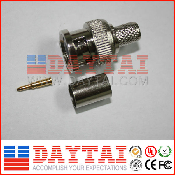 Hot Sale BNC Male Crimp Connector for RG58 RG59 Coaxial Cable