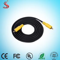 Super quality RCA cable rohs wholesale RCA to RCA Video Cable for subwoofer