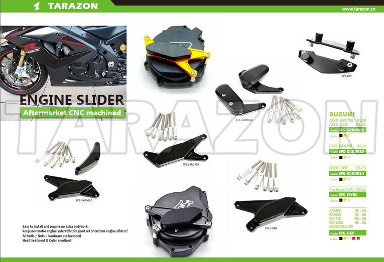 China Marca Tarazon Cnc Motocicleta Motor Deslizadores Para Suzuki ...