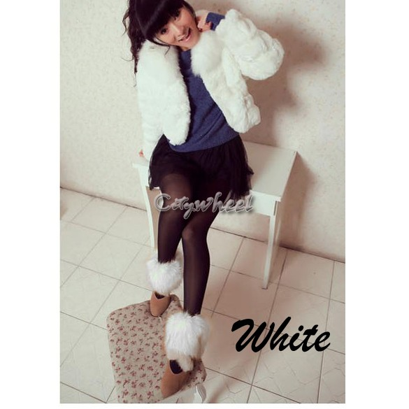 Розничная манжеты гетры 2 x 15 см ботинок носки женские искусственного меха мода лодыжки теплее нескольких цветов обувь рукава крышки 31
