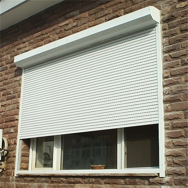 Kitchen cabine residential aluminum window shutter roll up buy residential aluminum window for Roll up window shutters exterior