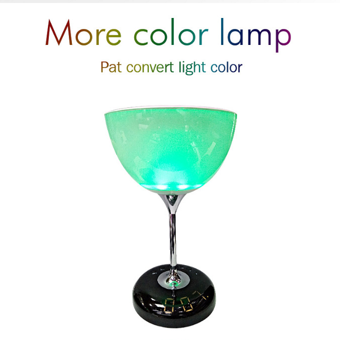 Wine glass LED speaker new speaker with led color light and led Display screen tf card cheap wireless speaker JY-35C