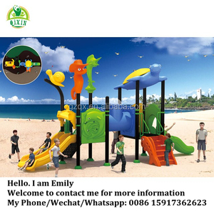 Good price daycare outdoor toys kids playgrounds for sale QX-18051B
