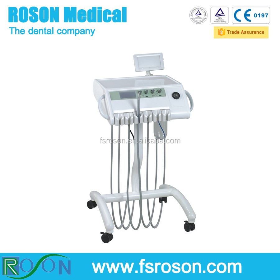 ROSON 2015 R15 Dental Portable Self Delivery Unit Cart Dental Trolleys with Woodpecker N2 Scaler,portable dental unit hot sale