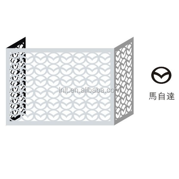 Metal Aluminum Air Condition Protector Outdoor Decorative
