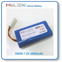 Small Size Rechargeable Li ion Battery Pack For Toy or RC Model 18650 2600mah 7.4V From China Factory