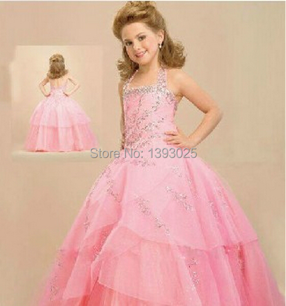 brautkleid rosa barbie prinzessin kleid gro e kind klavierspiel m dchen wischen den boden. Black Bedroom Furniture Sets. Home Design Ideas
