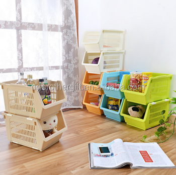 Easy Clean Colourful Removable Kids Toy Storage Bins