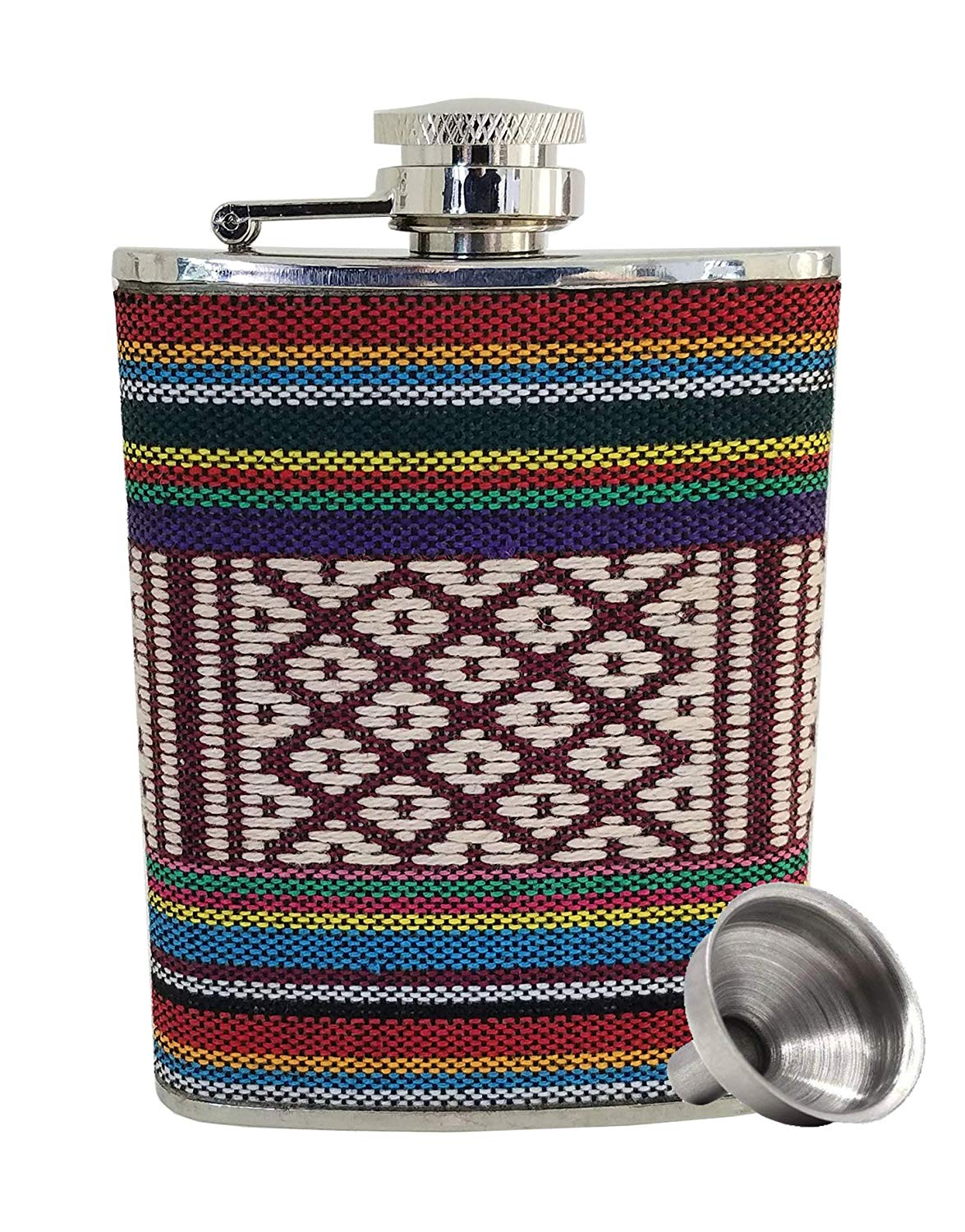UTALY Men Hip Flask for Liquor + Funnel-Set - Wine Pot for Women Travel Camping Outdoor Picnic Portable Drinking Cup with Knitted Sleeve