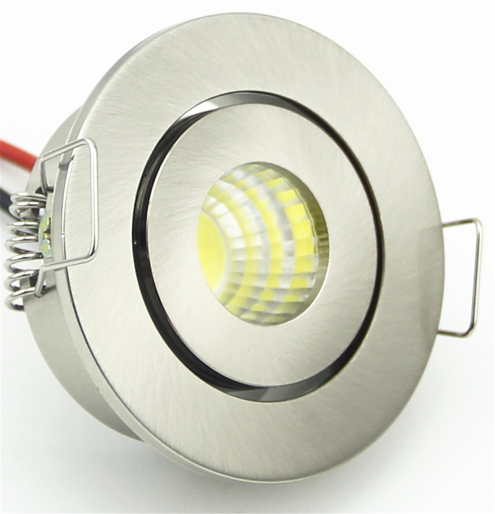 Mini Rotatable Led Spotlight 3 Watt Cob Recessed Light For Home