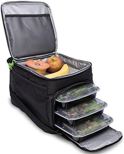 Get Quotations Cycle Meal Prep Bag Insulated With 6 Portion Control Trays Perfect