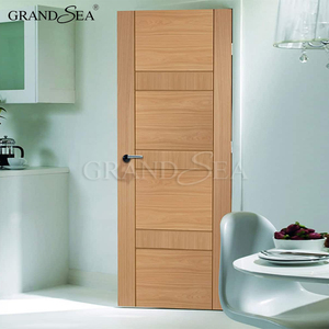 Pure OAK wooden solid core a swing internal flush door with section drawing