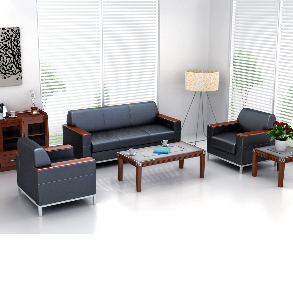 Sofa furniture for waiting room china cheap office sofa 3 seater florence knoll sofa in black leather