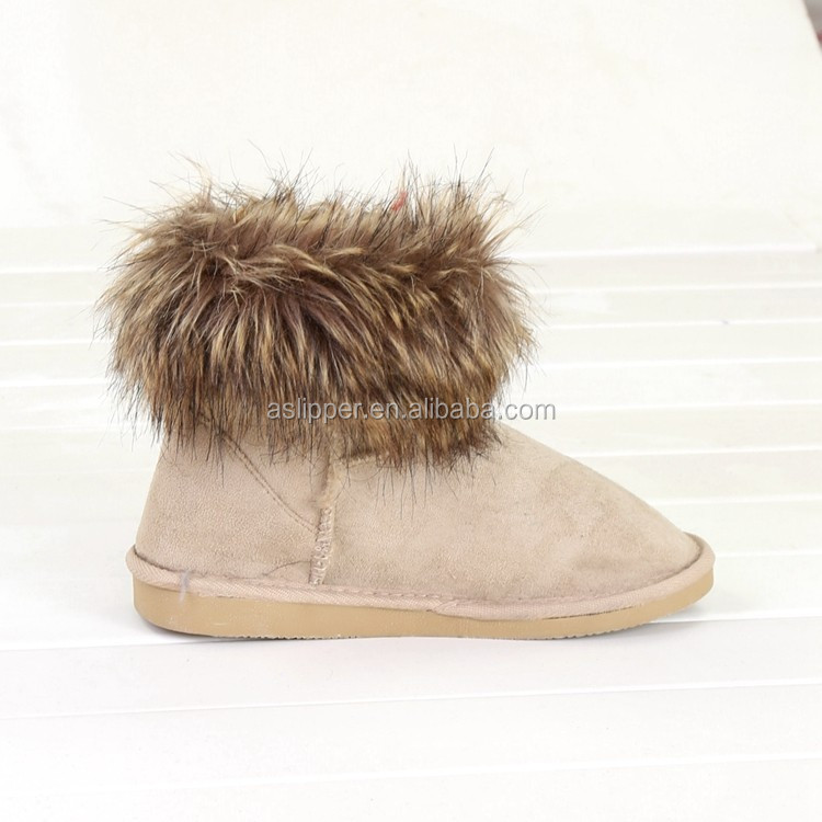 pink ankle boot with fur u ggs boots winter with warm fuzz wholesale