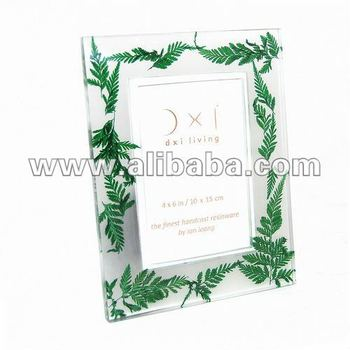 Photo Frame Resin Hand Cast : Ferns Embed : 4 X 6 Inch | 10 X 15 Cm ...