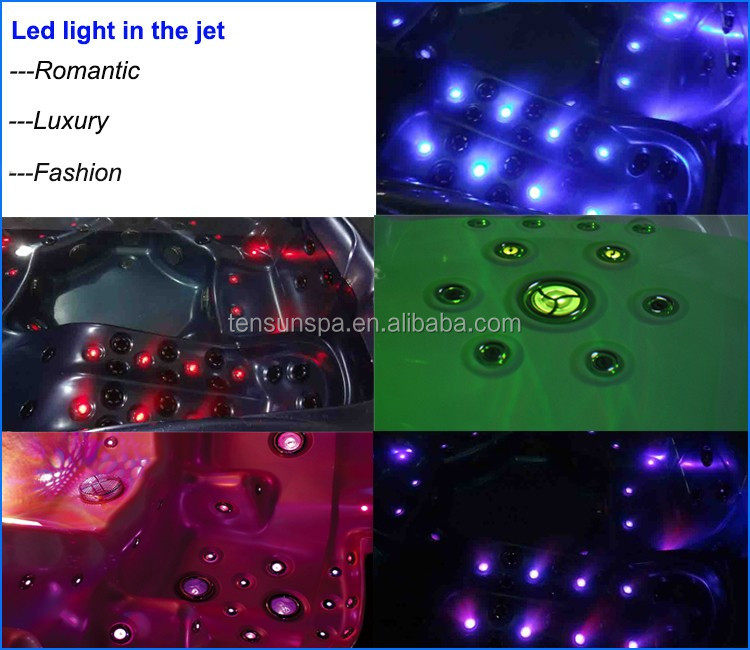 Luxurious LED 4 People Outdoor Spa